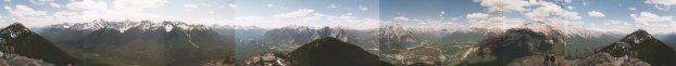 Sulphur Mountain Panarama