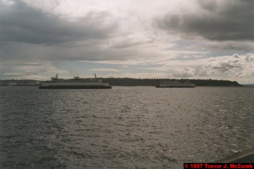 U.S.A.~Canada 018 ~ Washington 018 ~ Seattle 18 ~ Sea-Front Pier 1 ~ Puget Sound 8 ~ Two Washington State Ferries