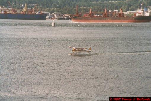 U.S.A.~Canada 025 ~ British Columbia 005 ~ Vancouver 05 ~ Canada Place 05 ~ Burrard Inlet 04 ~ Sea Plane 2