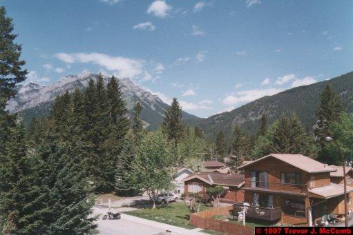 U.S.A.~Canada 507 ~ Alberta 008 ~ Banff 06 ~ Hotel (05) Irwin's Mountain Inn 06 ~ Room 06 ~ View From 4