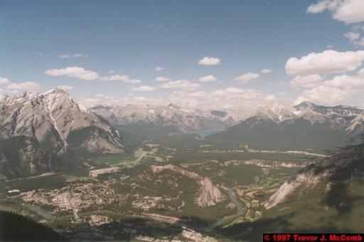 U.S.A.~Canada 522 ~ Alberta 023 ~ Banff 23 ~ From Sulphur Mountain 05