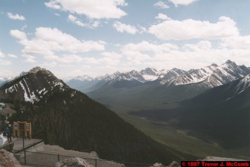 U.S.A.~Canada 527 ~ Alberta 028 ~ Banff 28 ~ From Sulphur Mountain 10
