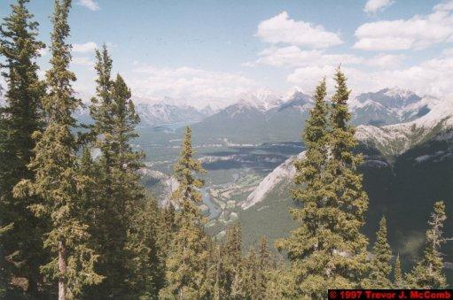 U.S.A.~Canada 531 ~ Alberta 032 ~ Banff 32 ~ From Sulphur Mountain 11