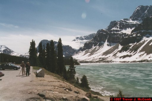 U.S.A.~Canada 620 ~ Alberta 121 ~ From Lake Louise To Athabasca Glacier 34 ~ Bow Lake 09