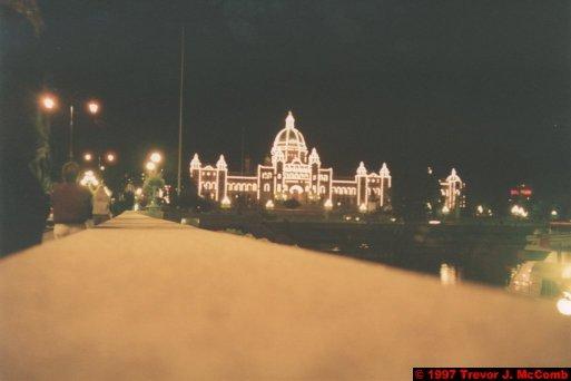 U.S.A.~Canada 865 ~ British Columbia 602 ~ Victoria 01 ~ B. C. Parliament Buildings 1 ~ At Night 1