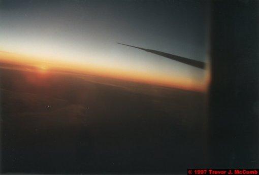 U.S.A.~Canada 957 ~ International Airspace 3 ~ Boeing 747 3 ~ Sunset 3