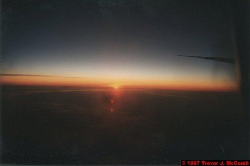 U.S.A.~Canada 958 ~ International Airspace 4 ~ Boeing 747 4 ~ Sunset 4