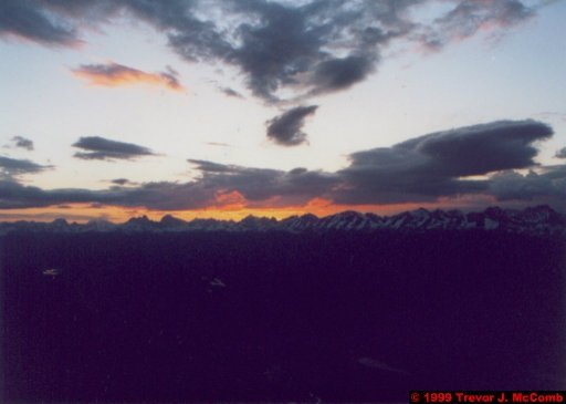Canada 069 ~ Alberta 041 ~ Jasper National Park 41 ~ The Whistlers Mountain 1 ~ Sunset
