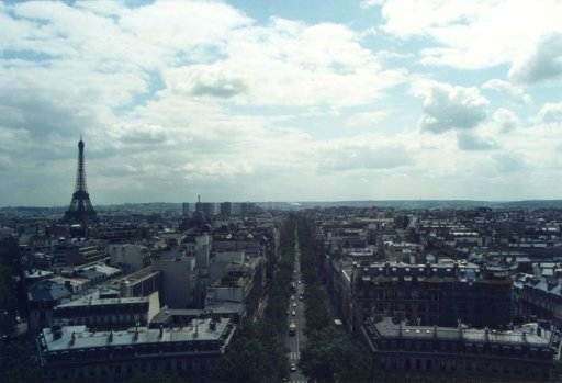 France 029 ~ Ile-de-France 029 ~ Paris 029 ~ 8e Arr 10 ~ L'Arch de Triomphe 11 ~ View South ~ Tour Eiffel 01