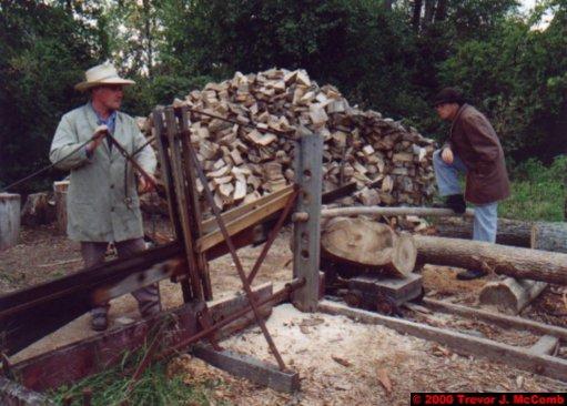 Canada~U.S.A. 064 ~ Ontario 64 ~ Upper Canada Village 15 ~ Horse Powered Saw 1