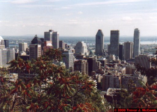 Canada~U.S.A. 119 ~ Québec 36 ~ Montréal 36 ~ From Mount Royal 7
