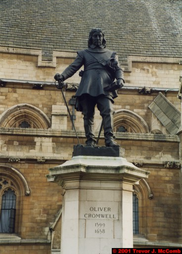 U. K. 03 ~ London 03 ~ Palace of Westminster 02 ~ Oliver Cromwell (1599-1658) Statue