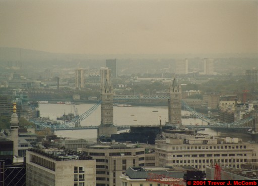 U. K. 15 ~ London 15 ~ From St. Paul's Cathedral 10 ~ River Thames 05 ~ Tower Bridge