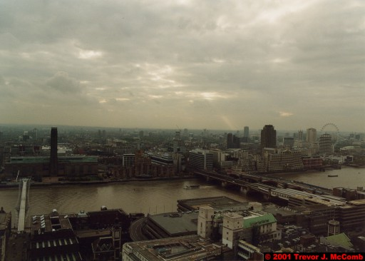 U. K. 17 ~ London 17 ~ From St. Paul's Cathedral 12 ~ River Thames 07 ~ Millenium Bridge 4 ~ London Eye 2
