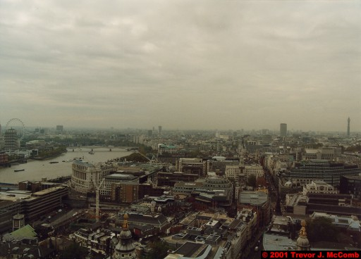 U. K. 18 ~ London 18 ~ From St. Paul's Cathedral 13 ~ River Thames 08 ~ London Eye 3 ~ B. T. Tower 2