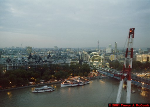 U. K. 19 ~ London 19 ~ From the London Eye 01 ~ River Thames 09