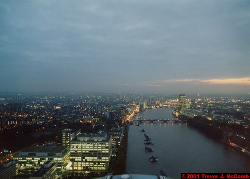 U. K. 23 ~ London 23 ~ From the London Eye 05 ~ River Thames 13