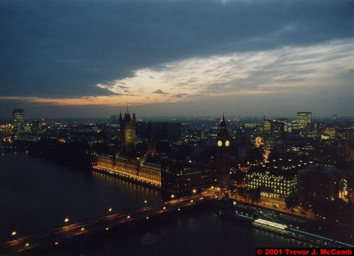 U. K. 30 ~ London 30 ~ From the London Eye 12 ~ River Thames 20 ~ Palace of Westminster 09 ~ St. Stephen's Clock Tower (Big Ben) 07