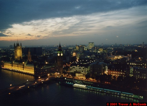 U. K. 31 ~ London 31 ~ From the London Eye 13 ~ River Thames 21 ~ Palace of Westminster 10 ~ St. Stephen's Clock Tower (Big Ben) 08