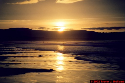 U. K. 45 ~ Northern Ireland 45 ~ Limavady Borough 08 ~ Benone Strand 08 ~ Sunset 03