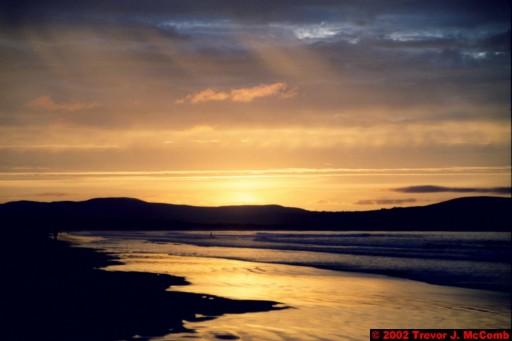 U. K. 54 ~ Northern Ireland 54 ~ Limavady Borough 17 ~ Benone Strand 17 ~ Sunset 12
